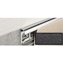 Laattalista Progress Profiles Projolly Quart, 2,7m, 10mm, musta
