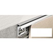 Laattalista Progress Profiles Projolly Quart, 2,7m, 10mm, valkoinen
