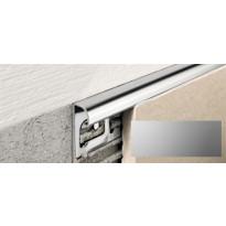 Laattalista Progress Profiles Projolly Quart, 2,7m, 6mm, anodisoitu hopea