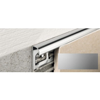 Laattalista Progress Profiles Projolly Quart, 2,7m, 10mm, anodisoitu hopea