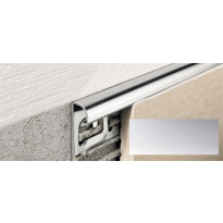 Laattalista Progress Profiles Projolly Quart, 2,7m, 8mm, kromi
