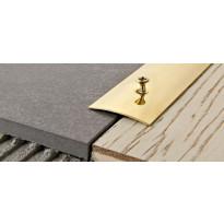 Peitelista Progress Profiles Prosol, 2,7m, 40mm, 0-5mm, ruuvikiinnitys, messinki