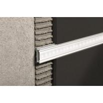 Boordi Progress Profiles Prolistell LED, 2,7m, 20mm, anodisoitu hopea