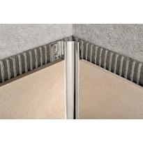 Sisäkulmalista Progress Profiles Proshell, 2,7m, 8mm, kiiltävä rst