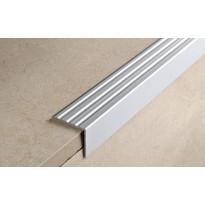 Porraskulmalista Progress Profiles Prowalk, 2,7m, 25mm, 20mm, liimakiinnitettävä, anodisoitu hopea