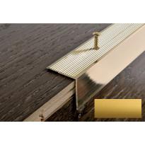 Porraskulmalista Progress Profiles Prowalk, 2,7m, 30mm, ruuvikiinnitettävä, anodisoitu kulta