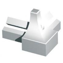 Listan ulkokulma Progress Profiles, 8mm, anodisoitu alumiini