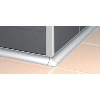 Listan ulkokulma Progress Profiles, 10mm, anodisoitu alumiini