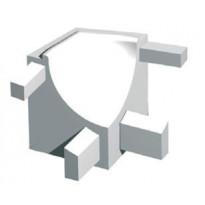 Sisäkulmapala, kiiltävä alumiini 10 mm