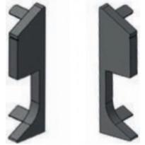 Jalkalista Progress Profiles Proskirting Giled, päätypala, 80mm, 6 kpl, anodisoitu hopea