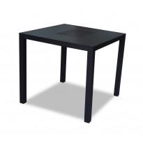 Pöytä Vipex Home A004, 80 x 80 cm, musta