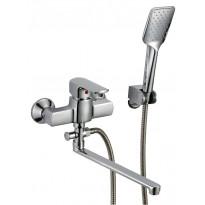 Amme- ja suihkuhana Kaleva 8758S, käsisuihku, pitkä kääntyvä juoksuputki, kromi
