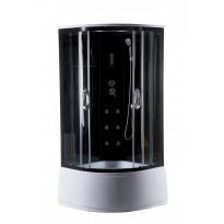 Hierova suihkukaappi Harma DK004, 90 x 90 x 215 cm, kirkas lasi, katto