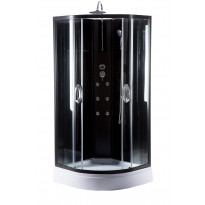 Hierova suihkukaappi Harma DK005, 90 x 90 x 220 cm, kirkas lasi, avoin yläosa