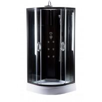 Hierova suihkukaappi Harma DK005, 90 x 90 x 220 cm, kirkas lasi, avoin yläosa, Tammiston poistotuote
