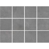 Lattialaatta Bien Arcides Grey, himmeä, verkolla, 100x100mm