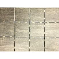 Lattialaatta Bien Alpstone Grey, himmeä, verkolla, 100x100mm