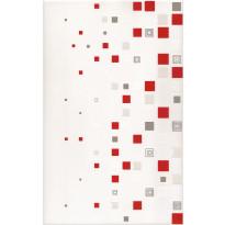Keraaminen kuviolaatta Kwant Czarny Centro 25x40cm, punainen