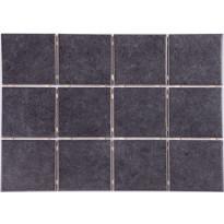 Lattialaatta Graniser Arctic Black, himmeä, verkolla, 100x100mm