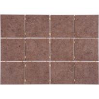 Lattialaatta Graniser Arctic Brown, himmeä, verkolla, 100x100mm