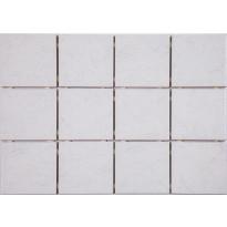 Lattialaatta Graniser Arctic White, himmeä, verkolla, 100x100mm