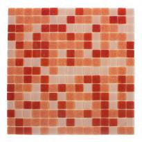 Lasimosaiikki Mix, 32,7x32,7, seinä-/lattialaatta, oranssi