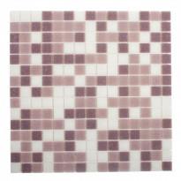 Lasimosaiikki Mix, 32,7x32,7, seinä-/lattialaatta, tumma lila