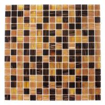 Lasimosaiikki Mocca Light, 32,7x32,7, seinä-/lattialaatta