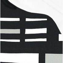 Pehmuste 75A mustavalkoinen - valkoisella katoksella