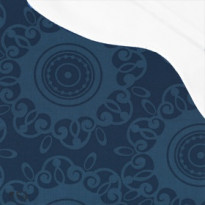Pehmuste 67B sininen - valkoisella katoksella (2006-967B)