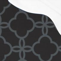 Pehmuste 68B mustaharmaa - valkoisella katoksella (2006-968B)