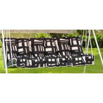 Keinun pehmustesarja Varax, Riviera 3-istuttava, kangas 75A, musta/harmaa/valkoinen