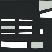 Pehmuste 75A mustavalkoinen, harmaalla katoksella (2006-975A)