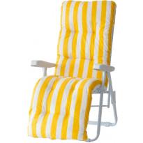 Tuolin pehmuste Varax Baden Baden, 122 keltainen/valkoinen