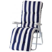 Tuolin pehmuste Varax Baden Baden, 123 sininen/valkoinen