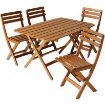 Pöytäryhmä Varax Ella & Ville, pöytä + 4 tuolia