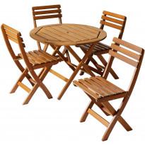 Pöytäryhmä Varax Iines & Ville, pöytä + 4 tuolia