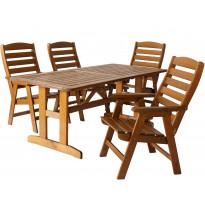 Pöytäryhmä Varax Alva & Silja, pöytä + 4 tuolia