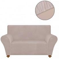 Venyvä sohvan suojapäällinen beige polyesteri