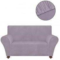 Venyvä sohvan suojapäällinen harmaa polyesteri