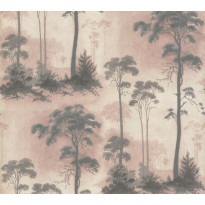 Tapetti 1838 Wallcoverings Prior Park, vaaleanpunainen, 0,52x10,05m