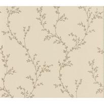 Tapetti 1838 Wallcoverings Milton, beige/kulta, 0,52x10,05m