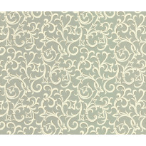 Tapetti 1838 Wallcoverings Brodsworth, sinivihreä, 0,52x10,05m