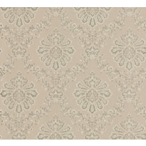 Tapetti 1838 Wallcoverings Broughton, beige/kulta, 0,52x10,05m