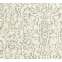 Tapetti 1838 Wallcoverings Avington, harmaa/hopea, 0,52x10,05m