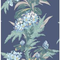 Tapetti 1838 Wallcoverings Aurora, sininen, 0,52x10,05m