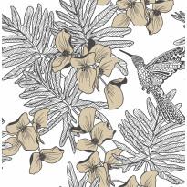 Tapetti 1838 Wallcoverings Hummingbird, kultainen, 0,52x10,05m