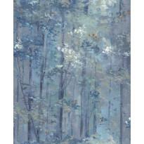 Tapetti 1838 Wallcoverings Glade, sininen, 0,52x10,05m