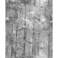 Tapetti 1838 Wallcoverings Glade, mustavalkoinen, 0,52x10,05m