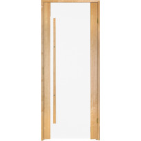 Saunan ovi Prosauna Sarastus, 8x19, kirkas lasi, leppä